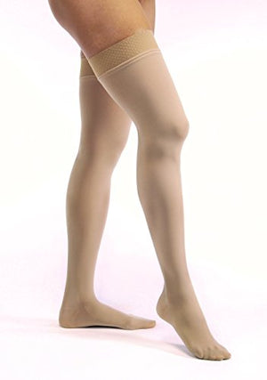 BSN Medical 115464 JOBST Opaque Compression Hose, Thigh High, 20-30 mmHg, Closed Toe, Small, Honey