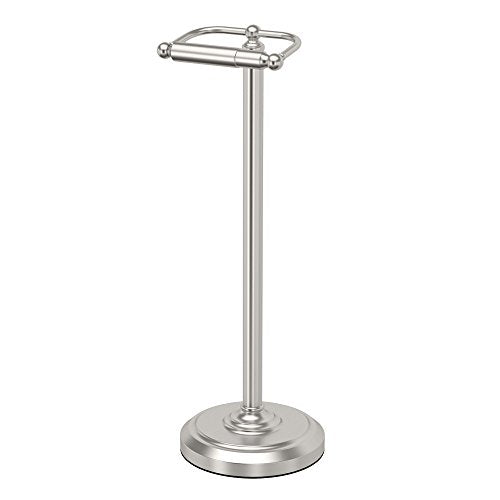 Gatco 1436SN Pedestal Toilet Paper Holder, Satin Nickel