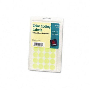Print or Write Removable Color-Coding Labels [Set of 2] Color: Neon Yellow, Size: 1.25