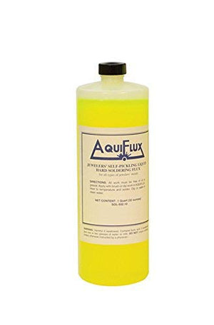 Aquiflux Self Pickling Flux for Precious Metals Gold Silver Jewelry and Hard Soldering 32 Oz (1 Quart)