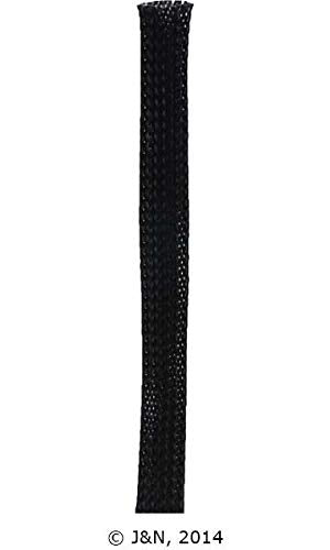 605-31002-25 - J&N, Braided Sleeving, PET Plastic, 0.5