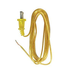 Cord Lamp 18-2/Spt-1 8ft Gold