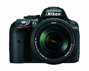 Nikon D5300 24.2 MP CMOS Digital SLR Camera with 18-140mm f/3.5-5.6G ED VR Auto Focus-S DX NIKKOR Zoom Lens (Black)