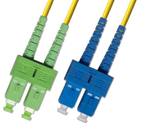 2M - Singlemode Duplex Fiber Optic Cable (9/125) - SC/APC to SC/UPC