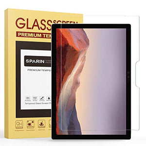 Screen Protector for Surface Pro 7 / Surface Pro 6 / Surface Pro (5th Gen) / Surface Pro 4, SPARIN Tempered Glass Screen Protector - Surface Pen Compatible/Scratch Resistant