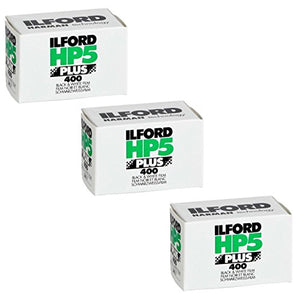 Ilford 1574577 HP5 Plus, Black and White Print Film, 35 mm, ISO 400, 36 Exposures (Pack of 3)