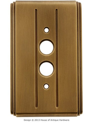 Streamline Deco Push Button Switch Plate - Single Gang in Antique-by-Hand