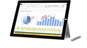 Microsoft Surface Pro 3 MQ2-00001 12-Inch Full HD 128 GB Storage Multi-Touch Tablet (Silver)