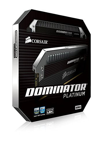 Corsair Dominator Platinum 16 Gb (2x8 Gb) Ddr4 3000 M Hz C15 Desktop Memory, Black