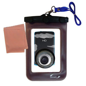 Underwater case for The JVC GC-WP10 Camcorder - Weather and Waterproof case Safely Protects Against The Elements