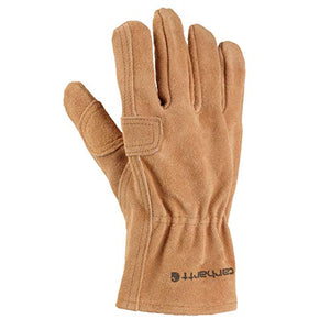 Carhartt Men's Leather Fencer Work Glove, Brown, Large
