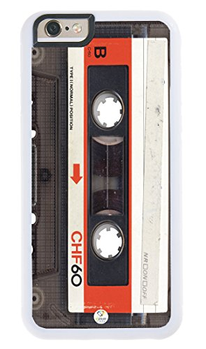 iPhone 7 Case iZERCASE [Audio Cassette] for Apple iPhone 7 (White)