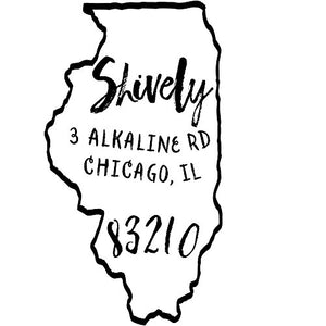 Illinois Return Address Stamp - State of Illinois Self Inking Stamp