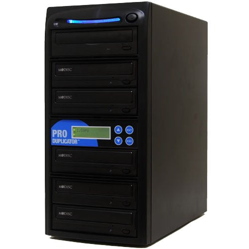Produplicator 1 to 5 24X Burner M-Disc Support CD DVD Duplicator - Standalone Copier Duplication Tower