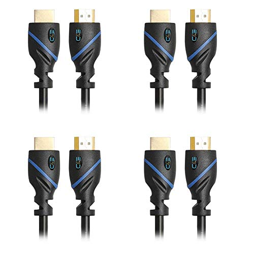 30 FT (9.1 M) High Speed HDMI Cable Male to Male with Ethernet Black (30 Feet/9.1 Meters) Supports 4K 30Hz, 3D, 1080p and Audio Return CNE15692 (4 Pack)
