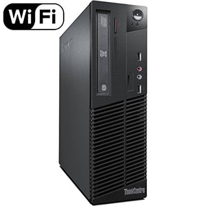 Lenovo ThinkCentre M72e Small Form Factor (SFF) Business Desktop, Intel Quad Core i3-3220 CPU, 8GB DDR3 RAM, 120 GB SSD, DVD, Windows 10 Pro 64 (Renewedd)