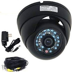 VideoSecu Dome Security Camera CCD 480TVL 3.6mm Lens Outdoor CCTV Infrared Night Wide Angle Vandal-Proof 20 IR LEDs for Home Video DVR Surveillance with Free Power Supply and Video Power Cable MD6