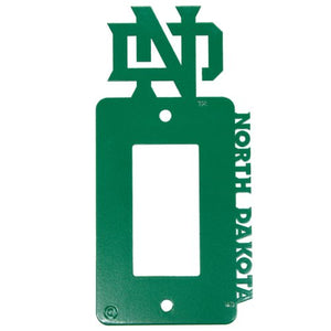 University of North Dakota - UND - Single Rocker Light Switch-GFCI Outlet Cover - Green