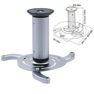 Cmple - Swivel Ceiling Mount for Projectors with Adjustable Extension from 5.1