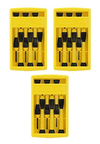 Stanley 66-052 6 Piece Precision Screwdriver Set (3 Pack)