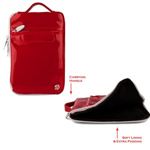 Vangoddys Amazing Quality Vertical Messenger Bag for 7inch Nook HD in Glossy Red