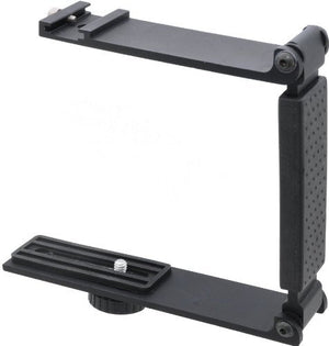 Aluminum Mini Folding Bracket for Canon VIXIA HF R62 (Accommodates Microphones Or Lights)