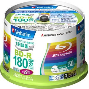 Verbatim 25 GB 6x Blu-ray Disc (50-Disc Spindle)