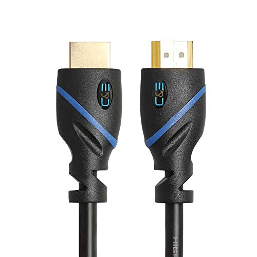 50ft (15.2M) High Speed HDMI Cable Male to Male with Ethernet Black (50 Feet/15.2 Meters) Supports 4K 30Hz, 3D, 1080p and Audio Return CNE67996