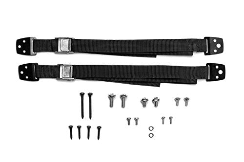 TV and Furniture Anti-Tip Straps (Heavy Duty Strap and All Metal Parts) (2 Pack, Black)