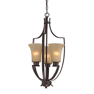 Cornerstone Lighting 7703FY/10 Foyer Collection 3 Light Pendant, Oil Rubbed Bronze