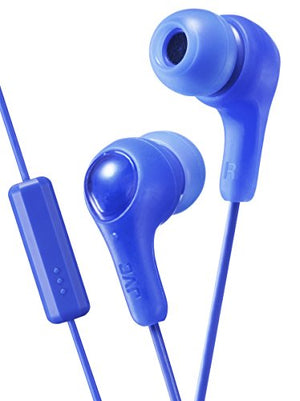 JVC HAFX7MA GUMY Inner Ear Headphones with Remote and Microphone - Blue