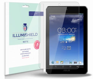 iLLumiShield Matte Screen Protector Compatible with ASUS MeMO Pad 7 inch (ME172V-A1-GR)(3-Pack) Anti-Glare Shield Anti-Bubble and Anti-Fingerprint PET Film