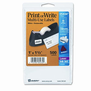 Print or Write Removable Multi-Use Labels, 500/Pack [Set of 2]