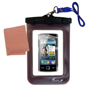 outdoor Gomadic waterproof carrying case suitable for the Samsung Wave 578 to use underwater - keeps device clean and dry