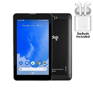 Indigi 4G LTE GSM Unlocked! 7-inch Smartphone & TabletPC - Google Certified Android Pie - QuadCore, 2GB RAM/16GB Storage + Earbuds