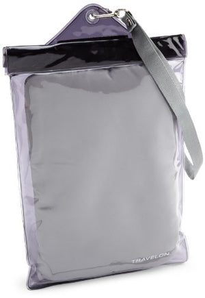 Travelon Luggage Waterproof E-Reader Pouch, Clear/Black, One Size