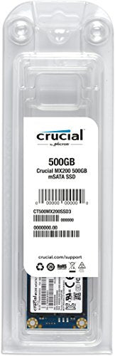 (OLD MODEL) Crucial MX200 500GB mSATA Internal Solid State Drive - CT500MX200SSD3