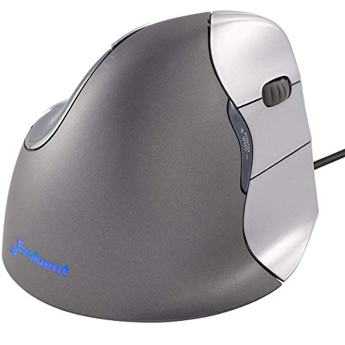 Evoluent Vm4 R Vertical Mouse 4 Right Hand Ergonomic Mouse With Wired Usb Connection (Regular Size),Cl