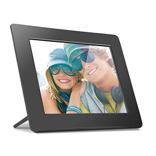 Aluratek 8 Inch Lcd Digital Photo Frame With Auto Slideshow Using Usb Sd/Sdhc (Adpf08 Sf)   Black