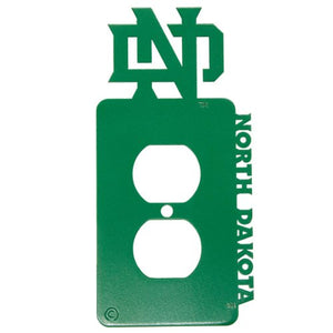 University of North Dakota - UND - Power Outlet Plate Cover - Green