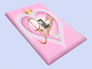 Princess Heart Switchplate - Switch Plate Cover