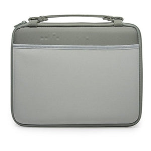 BoxWave iPad Case, [Hard Shell Briefcase] Slim Messenger Bag Brief w/Side Pockets for Apple iPad - Pewter Green