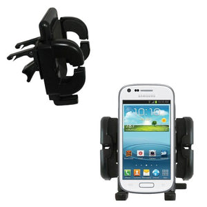 Gomadic Innovative Vent Cradle Vehicle Mount Designed for The Samsung Galaxy Prevail 2 - Adjustable Vent Clip Holder for Most Car/Auto Vent Systems