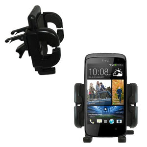 Innovative Vent Cradle Vehicle Mount designed for the HTC Desire 500 - Adjustable Vent Clip Holder for Most Car / Auto Vent Systems