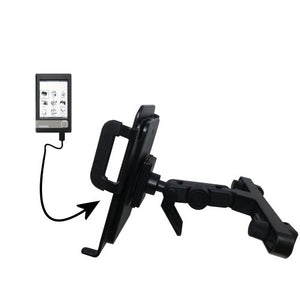 Innovative Headrest Vehicle Mount to Support Netronix Pocketbook 301 Plus Tablet by Gomadic