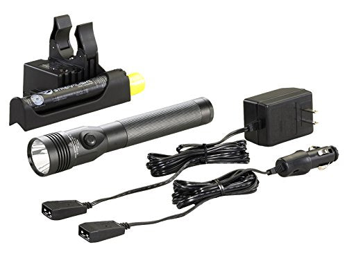 Streamlight 75458 Stinger DS LED High Lumen Rechargeable Flashlight with 120-Volt AC/12-Volt DC Piggyback Charger - 800 Lumens