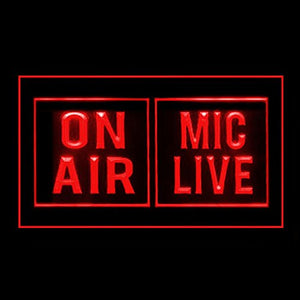 140131 Powerful Media Studio On Air Mic Life Display LED Light Sign