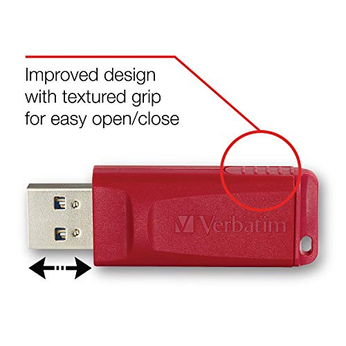 Verbatim 8GB Store 'n' Go USB Flash Drive - PC / Mac Compatible - 3pk, Red, Green, Blue - 98703