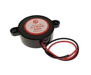 YXQ SFM-27 DC3-24V Electronic Buzzer Alarm Active Piezo Sounder Continuous Sound Beep with Cable
