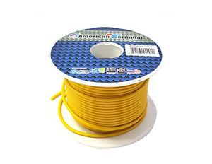 American Terminal ATPW18-100Y 18 Gauge Primary Wire, Yellow